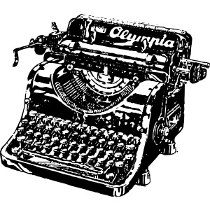 Old olympia typewriter